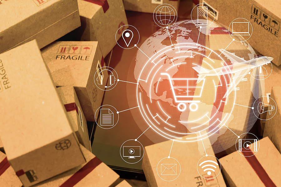 Concept of freight forwarding companies